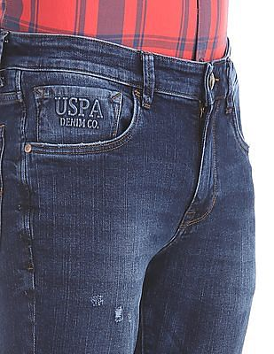 U.S. Polo Assn. Denim Co. Slim Tapered Fit Distressed Jeans
