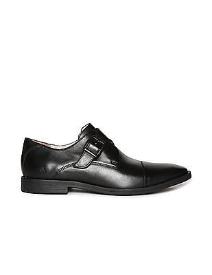 Arrow Cap Toe Monk Strap Shoes