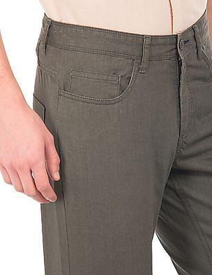 Cherokee Solid Slim Fit Trousers
