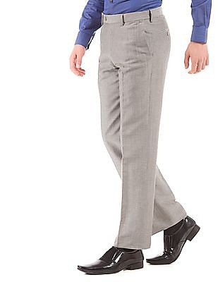 Arrow Flat Front Regular Fit Trousers