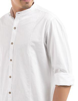 Cherokee Regular Fit Mandarin Collar Shirt