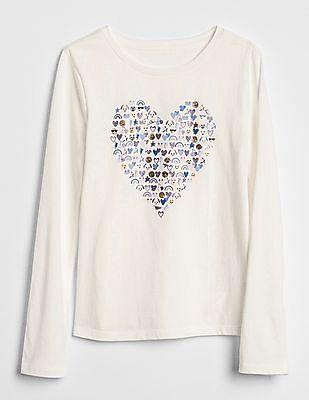 GAP Girls Graphic Long Sleeve T-Shirt