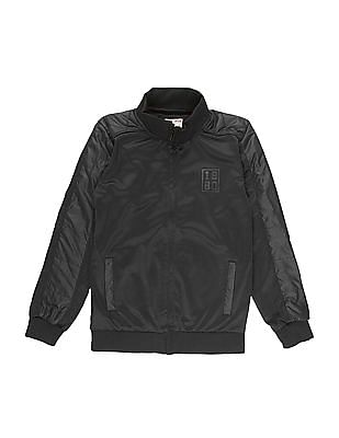 FM Boys Boys Solid Slim Fit Bomber Jacket