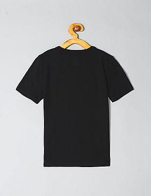 GAP Boys Black Graphic Short Sleeve T-Shirt