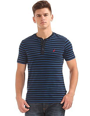 Nautica Short Sleeve Stripe Henley
