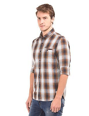 Ed Hardy Check Cotton Linen Shirt