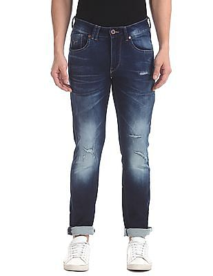 Flying Machine Skinny Fit Stone Washed Jeans