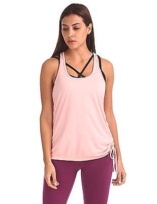 Aeropostale Scoop Neck Solid Active Tank Top