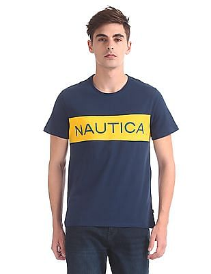 Nautica Short Sleeve Chest Block Crew T-Shirt