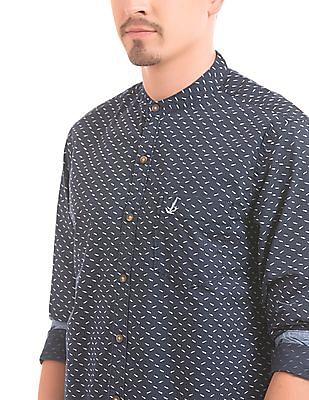 Bayisland Slim Fit Fish Print Shirt