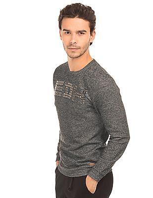 Ed Hardy Heathered Stud Embellished Sweatshirt