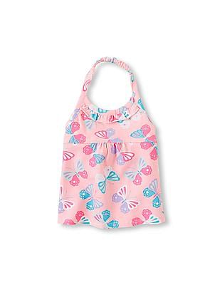 The Children's Place Toddler Girl Pink Printed Halter Top