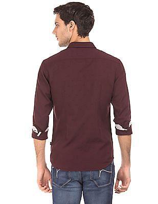 Flying Machine Slim Fit Dobby Weave Shirt