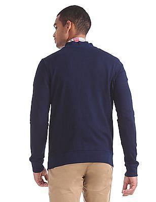 Aeropostale Zipper Up Heathered Sweatshirt