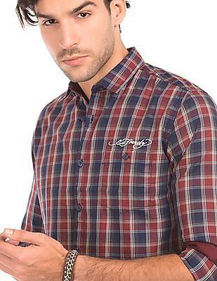 Ed Hardy Check Slim Fit Shirt