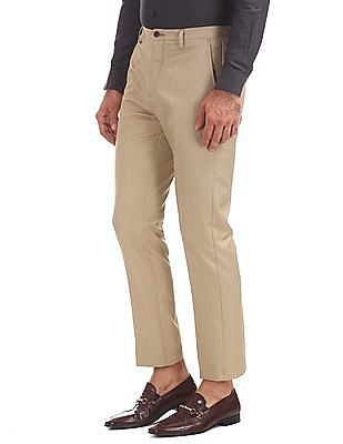 Arrow Newyork Tapered Fit Flat Front Trousers