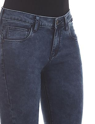 Cherokee Blue Slim Fit Ankle Length Jeans