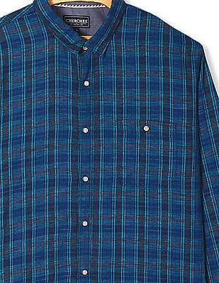 Cherokee Mitered Cuff Check Shirt