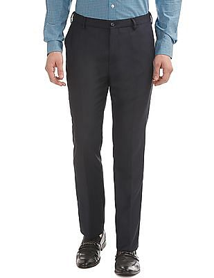 Arrow Newyork Tapered Fit Autoflex Waist Trousers