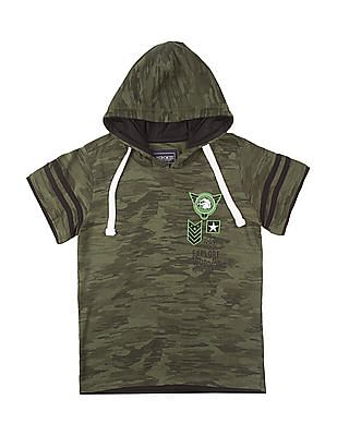 Cherokee Boys Printed Hooded T-Shirt