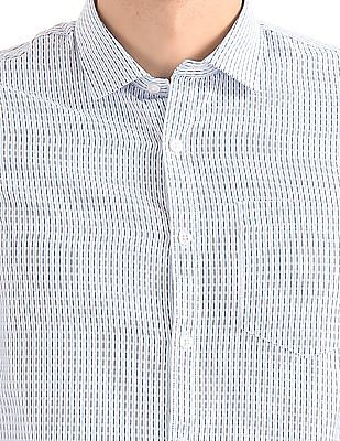 Excalibur Striped Weave Cotton Shirt