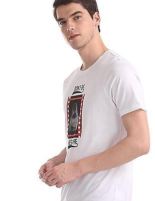 Colt White Printed Cotton Jersey T-Shirt