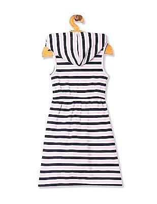Cherokee Girls Hooded Stripe Dress