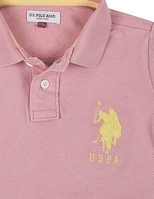 U.S. Polo Assn. Kids Boys Regular Fit Pique Polo Shirt