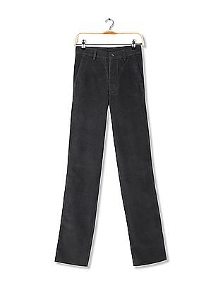 Arrow Sports Flat Front Corduroy Trousers