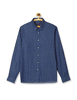 Arrow Sports Printed Slim Fit Shirt