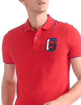 Gant G Application Pique Short Sleeve Rugger Polo Shirt