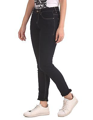 Flying Machine Women Skinny Fit Rinsed Jeans