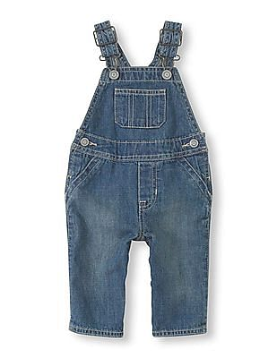 The Children's Place Baby Boy Blue Basic Denim Overall