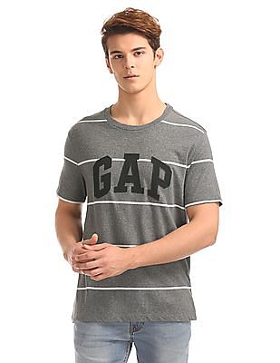 GAP Striped Logo Tee