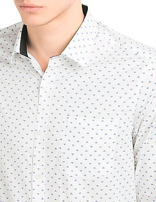 Arrow Printed Slim Fit Shirt