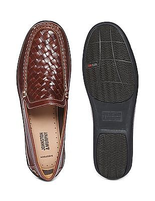 Johnston & Murphy Woven Leather Loafers