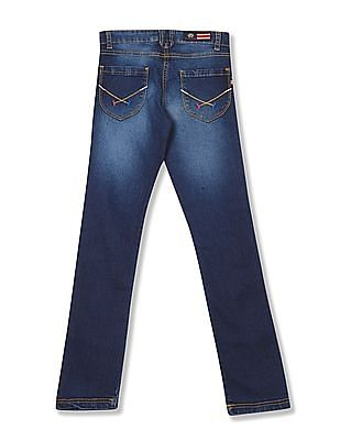 U.S. Polo Assn. Kids Girls Regular Fit Stone Wash Jeans