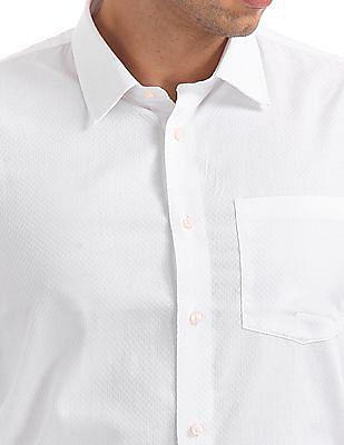 Arrow Newyork Patterned Weave Slim Fit Shirt