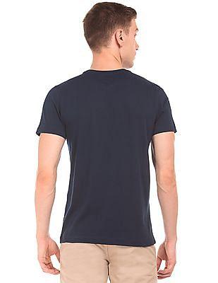 Arrow Sports Rubber Print Round Neck T-Shirt
