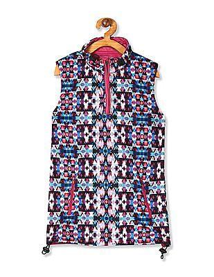 Cherokee Girls Sleeveless Printed Jacket