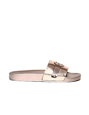 GUESS Brand Logo Solid Slides