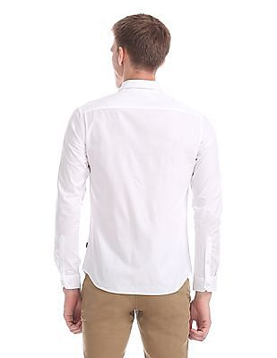 Flying Machine Slim Fit Dobby Shirt