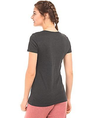 Aeropostale Printed Melange T-Shirt
