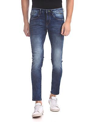 Flying Machine Michael Slim Tapered Stone Wash Jeans