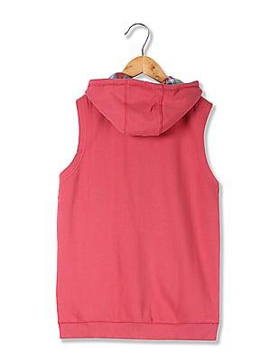 U.S. Polo Assn. Kids Boys Sleeveless Hooded Sweatshirt