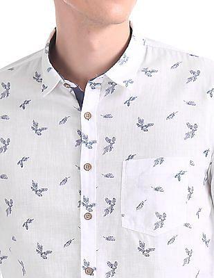 Cherokee Contemporary Regular Fit Printed Shirt