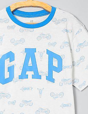 GAP Boys Bike Print Logo Tee