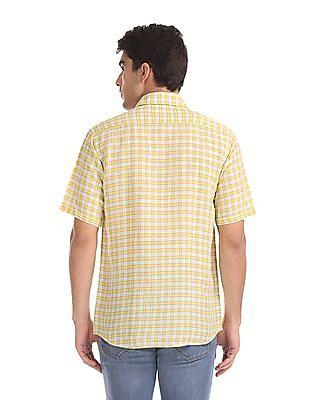 Arrow Sports Regular Sport Fit Check Shirt