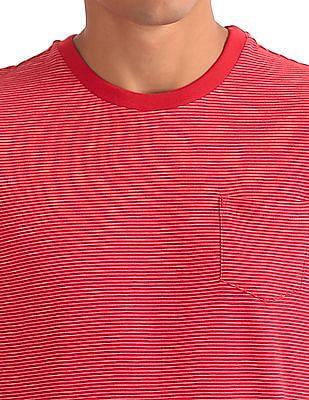 Aeropostale Patch Pocket Stripe T-Shirt