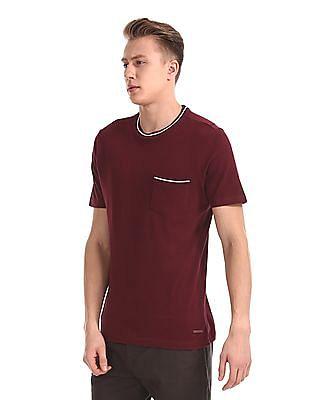 Cherokee Red Slim Fit Crew Neck T-Shirt